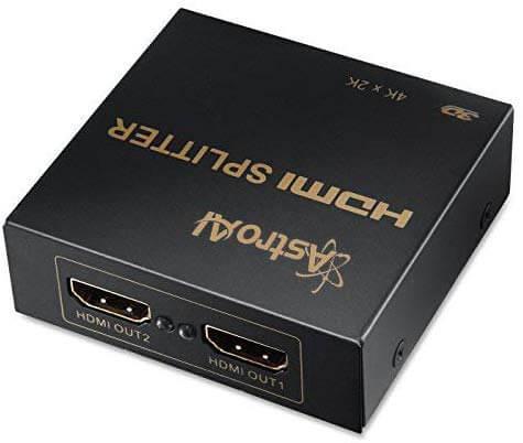 HDMIを2本に分配するHDMIスプリッター