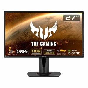 ASUS TUF Gmaing VG27AQ 27インチWQHD解像度の165Hz応答速度1msのゲーミングモニター