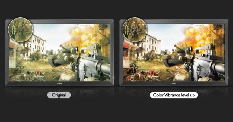 色の鮮やかさを調整することによって敵がみやすくなり照準も合わせやすくなる