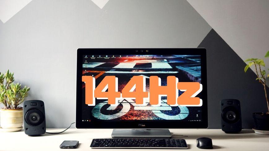 144Hzのリフレッシュレートは1秒間に144回更新されるディスプレイ
