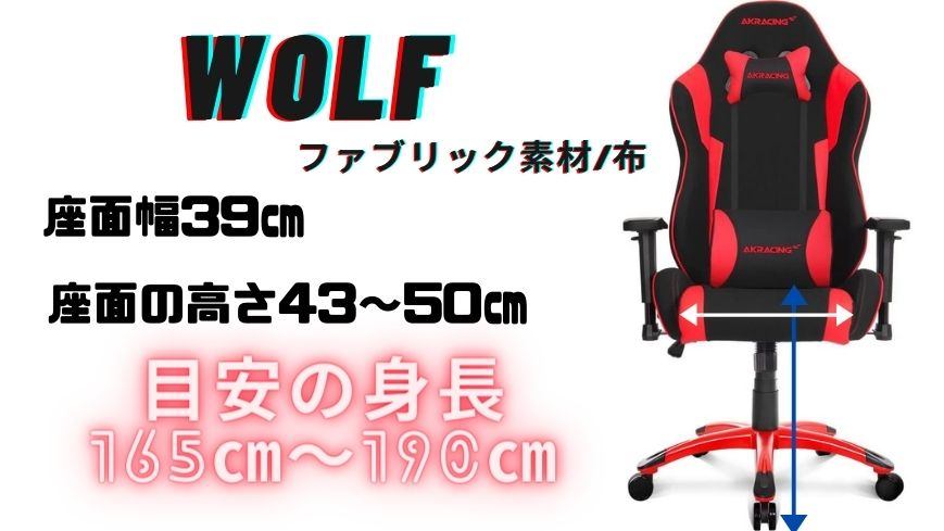 AKRACING WOLFのスペック