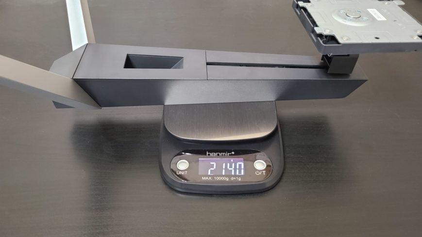 EX2510のアームの重さ