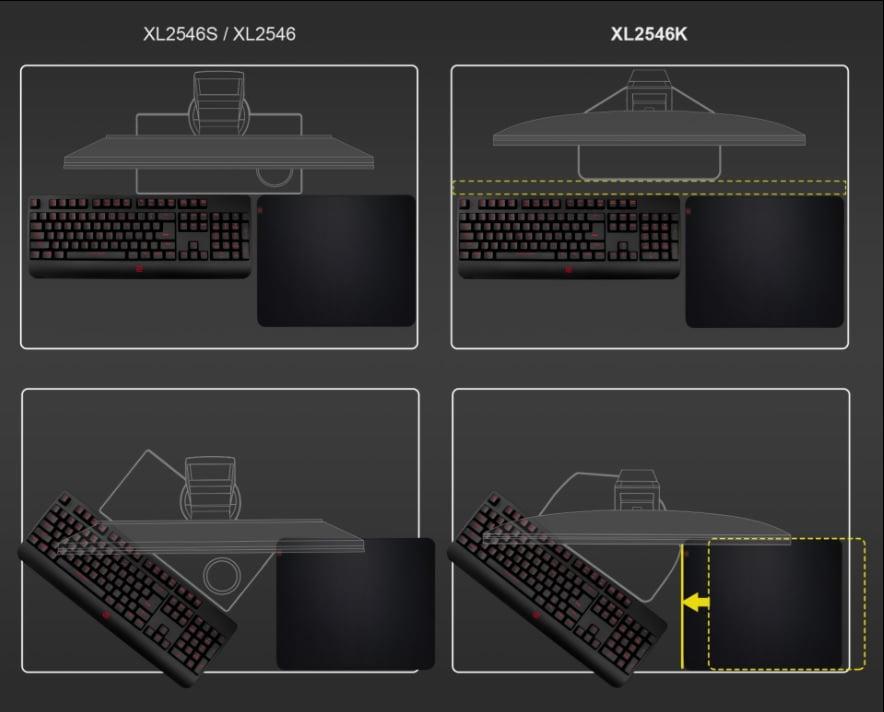 XL2546Kの新しい台座のデザイン
